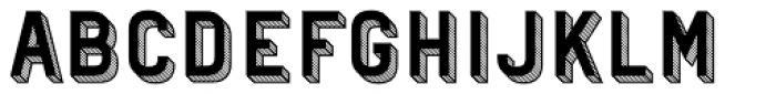 Patrima Hatched Font UPPERCASE