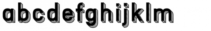 Patrima Hatched Font LOWERCASE