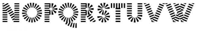 Pattern No1 Coarse Bold Font UPPERCASE