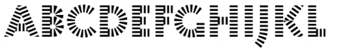 Pattern No1 Coarse Bold Font LOWERCASE