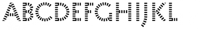 Pattern No1 Coarse Regular Font LOWERCASE