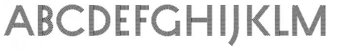 Pattern No1 Fine Regular Font UPPERCASE