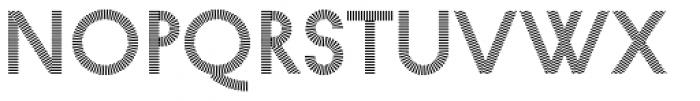 Pattern No1 Fine Regular Font LOWERCASE
