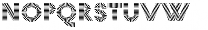 Pattern No1 Medium Bold Font UPPERCASE