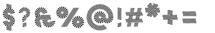 Pattern No2 Fine Bold Font OTHER CHARS