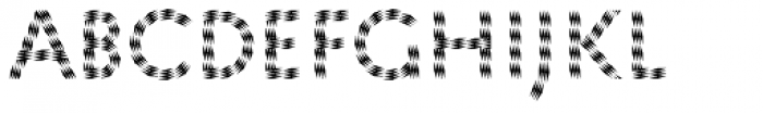 Pattern No5 Coarse Regular Font LOWERCASE