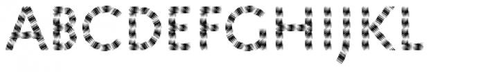 Pattern No5 Medium Regular Font UPPERCASE