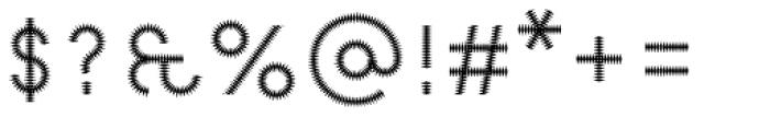Pattern No6 Fine Regular Font OTHER CHARS