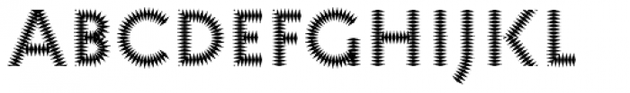 Pattern No6 Medium Bold Font UPPERCASE