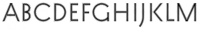 Pattern No6 Medium Regular Font UPPERCASE