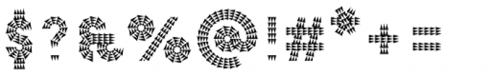 Pattern No7 Coarse Bold Font OTHER CHARS