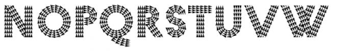 Pattern No7 Coarse Bold Font UPPERCASE