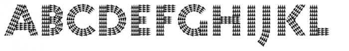 Pattern No7 Coarse Bold Font LOWERCASE
