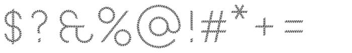 Pattern No8 Fine Light Font OTHER CHARS