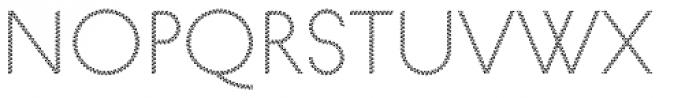 Pattern No8 Fine Light Font LOWERCASE