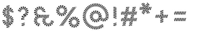Pattern No8 Medium Regular Font OTHER CHARS