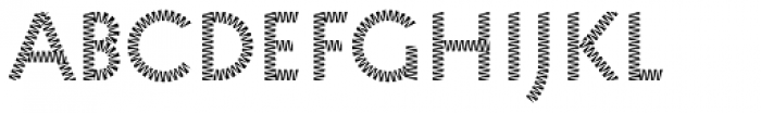 Pattern No8 Medium Regular Font LOWERCASE