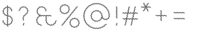 Pattern No9 Fine Light Font OTHER CHARS