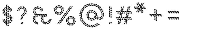 Pattern No9 Medium Regular Font OTHER CHARS