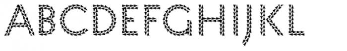 Pattern No9 Medium Regular Font LOWERCASE