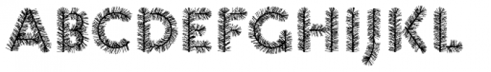 Pattern XMAS3 Font UPPERCASE