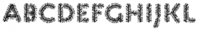 Pattern XMAS3 Font LOWERCASE