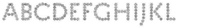 Pattern XMAS4 Font LOWERCASE