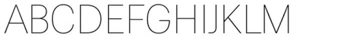 Paul Grotesk Soft Thin Font UPPERCASE