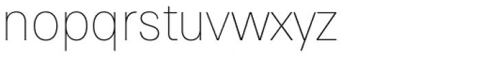Paul Grotesk Soft Thin Font LOWERCASE