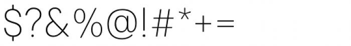 Paul Grotesk Soft Ultra Light Font OTHER CHARS