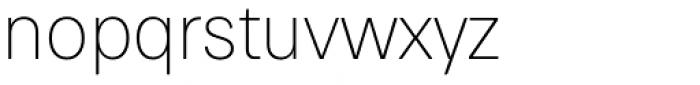 Paul Grotesk Soft Ultra Light Font LOWERCASE