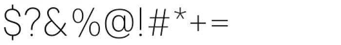 Paul Grotesk Ultra Light Font OTHER CHARS