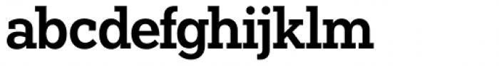 Paul Slab Semi Bold Font LOWERCASE