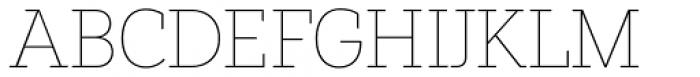 Paul Slab Thin Font UPPERCASE