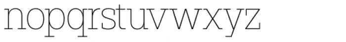 Paul Slab Thin Font LOWERCASE