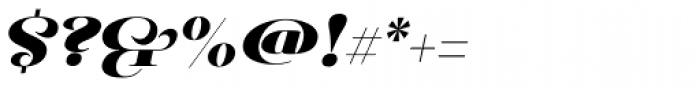Pauline Didone Black Italic Font OTHER CHARS