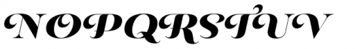 Pauline Didone Black Italic Font UPPERCASE