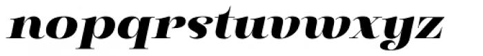 Pauline Didone Black Italic Font LOWERCASE