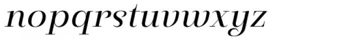Pauline Didone Italic Font LOWERCASE