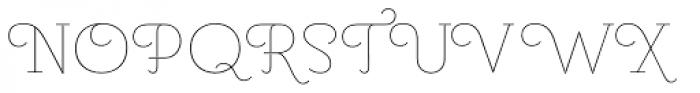 Pauline Didone Thin Font UPPERCASE
