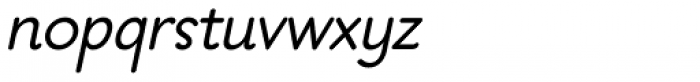 Pauline Oblique Font LOWERCASE