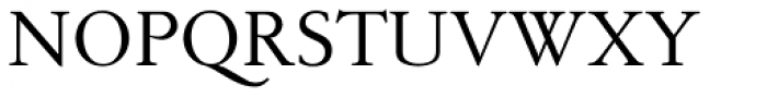 Pavane Regular Font UPPERCASE