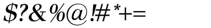 Pax SemiBold Italic Font OTHER CHARS