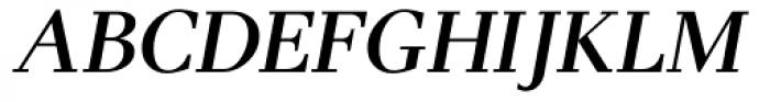 Pax SemiBold Italic Font UPPERCASE