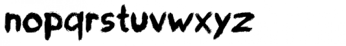 paintbrushdd Font LOWERCASE