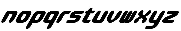 Parvo-BoldItalic Font LOWERCASE