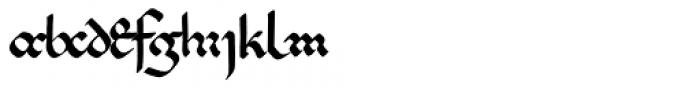 PB Beneventan XIc Font LOWERCASE