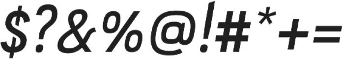 PC Navita Semibold-Oblique otf (600) Font OTHER CHARS
