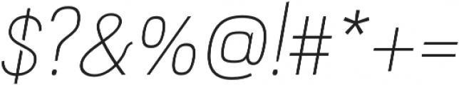 PC Navita Thin-Oblique otf (100) Font OTHER CHARS