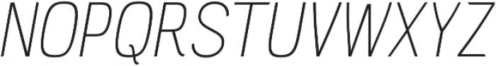 PC Navita Thin-Oblique otf (100) Font UPPERCASE